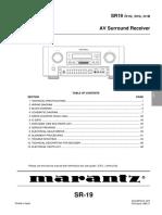 Marantz SR-19 Service Manual