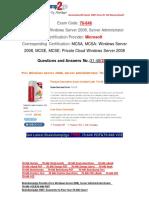 [FREE]Braindump2go 70-646 Study Guide Download 31-40