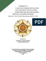 CONSISTENCY ANALYSIS OF MIXED MUTUAL FUND PERFORMANCE AND EQUITY MUTUAL FUNDS PERFORMANCE BETWEEN 2003-2014 USING SHARPE, TREYNOR, AND JENSEN METHODS