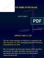 58546875 Lecture 9 Hire Purchase Law