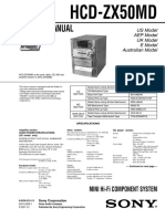 Sony HCD-ZX50MD Service Manual