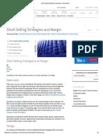 Short Selling Strategies and Margin