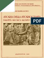 Scavo_Storia Della Storiografia. Dall'Età Arcaica All'Alto Medioevo