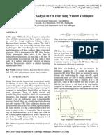 Gibb's Phenomenon Analysis on FIR Filter using Window Techniques