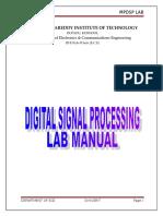 Dsp Lab Manual r13 III-II