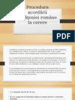 Etapele Dobindirii Cetateniei Române