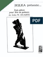 Duarte - Trois Pieces Pour 3 Gtrs