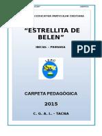 Carpeta Estrellita de Belen 2015