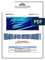 PDS LAB 1 Manual