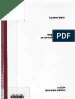 Berio Sequenza Bass Clarinet
