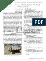 Fabrication and Performance Optimization of Parabolic Trough