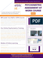Online Psychometric Assessment at Work - BPS Level 1 & 2 Course