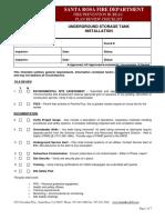 Underground Storage Tank _UST_ Installation Plan Review Checklist