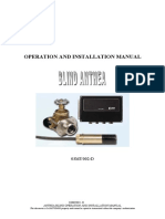 Blind Anthea Operation and Installation Manual