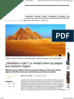¿Realidad o Mito_ La Verdad Sobre Las Plagas Que Asolaron Egipto
