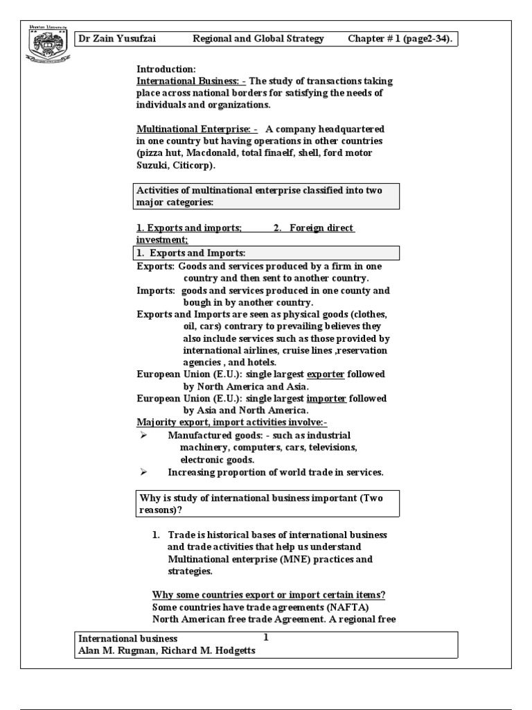5fe845342f2 1-Regional and Global Strategy(International Business)