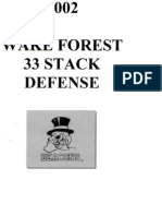 2002 Wake Forest - 33 Stack