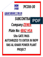 Sepcoiii Vehicle Gate Pass - Hilux