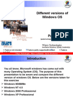 Different Versions of Windows OS