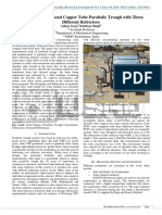 Optimization of Glazed copper tube Parabolic Trough with Three Different Refrectors