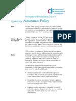 Cdf Qa Policy
