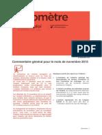 Baromètre Prism'emploi novembre 2015
