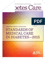 Standards of Medical Care for Diabetes 2015