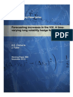 Forecasting increases in the VIX