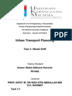 Assignment Urban Modal Shift