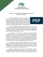 Analise Técnica PLS 200-2015 CONEP-CNS