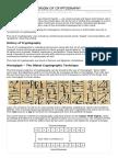 Origin of Cryptography