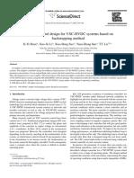 Adaptive Control Design for VSC-HVDC Systems Based on Backstepping Method