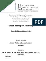Assignment Urban Financial Analysis
