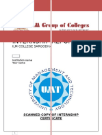 Internship Report on ILM College (Sargodha)