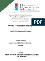 Assignment Urban Environmental Impact