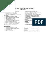 Lista de Útiles CM1 2016