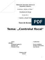 TEZA DE LICENTA ,,Controlul fiscal,.doc
