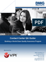 VPI DMG Contact Center QA Guide - Building a World-Class Quality Assurance Program