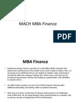 Microsoft Mach MBA Finance PPT