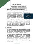 Memorandum de Planificación de auditoria