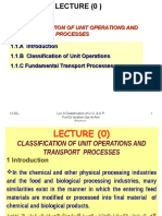 Lec 0 Classification of Unit Operations and Transport Processes
