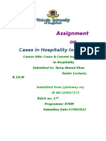 Assignment on Cases in Hospitality Industry