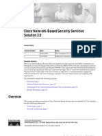 Cisco Network-Based Security Services Solution 2.0