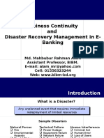 Disaster Recovery and Business
