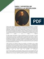 Los Orígenes y Aportes de Auguste Comte a La Sociología