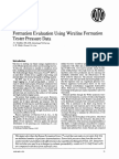 Formation Evaluation Using Wireline Formation Tester Pressure Data - JPT 1978