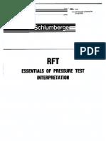 RFT - Essentials of Pressure Test Interpretation