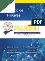Catalogo de Pinceles
