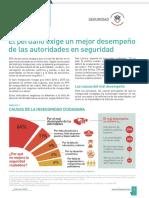 El peruano exige un mejor desempeño de las autoridades en seguridad
