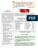 Assisted Living Services 2015 4th Qtr Newsletter